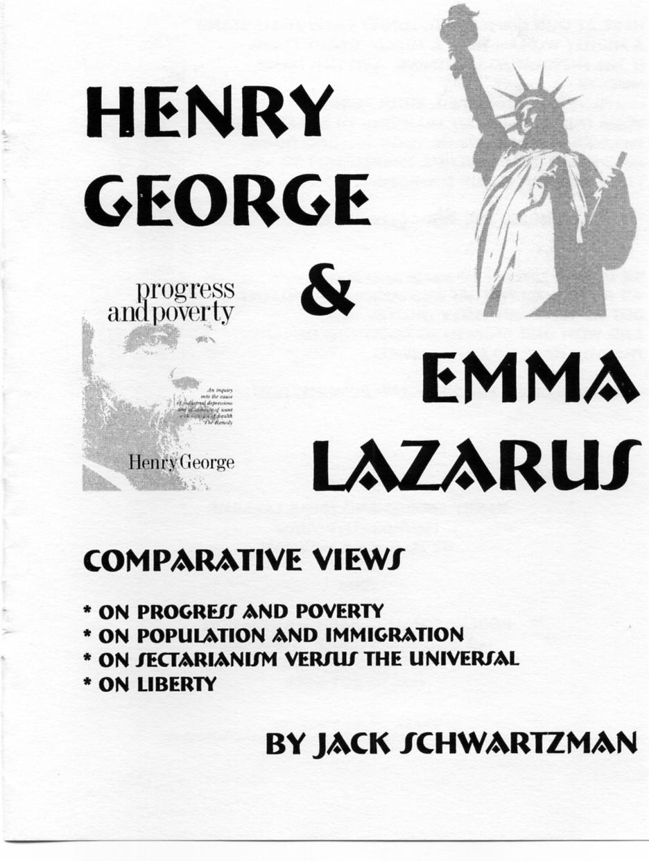 essay of emma lazarus This edition is a broad collection of her writings, including her essays,  eiselein  has created an important historical-literary context for emma lazarus's writing.